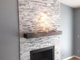 Alaska Gray Marble around fireplace stone veneer panels Fremont