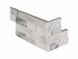 Alaska Gray Stacked Stone Ledger Panel Corner LPNLMALAGRY618COR