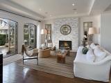Alaska Gray Stacked Stone Marble around fireplace Veneer Panels Carmel