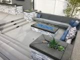 Alaska Gray marble ledger stone veneer San Jose patio retaining wall
