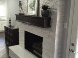 Arctic white marble stacked stone ledger panel veneer for walls fireplace San Ramon