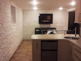 Arctic white stacked stone marble ledger panel veneer for interior walls Cupertino