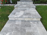 Atlantic Blue Marble Pattern Walkway and Steps