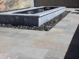 Atlantic blue stone marble wall cap outdoor fire pit San Jose