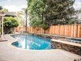 California Gold  stone panels outdoor patio seating wall San Jose