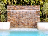 California gold ledger stone veneer panels waterfall San Jose