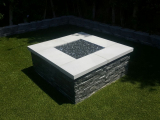 Coal Canyon Ledger Stone Panels outdoor firepit San Jose