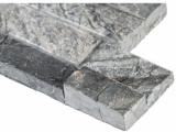 Glacial Black Marble Stacked Stone Ledger Panel LPNLMGLABLK624