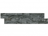 Glacial Black Stacked Stone Marble Ledger Panel LPNLMGLABLK624