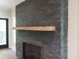 MS Internatioal Premium Black Slate Fireplace Stone Panel LPNLMGLAGRY624