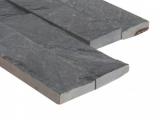 Premium Black Slate Stone Ledger Panel LPNLMGLAGRY624