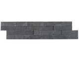 Premium Black Stacked Stone 6x24 Split Face Ledger Panel LPNLSPREBLK624