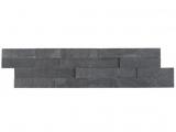 Premium Black Stacked Stone 6x24 Split Face Ledger Panel LPNLSPREBLK624
