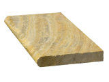 Scabos Travertine bullnose coping