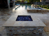 MS International 6x24 Tuscany Scabas Travertine Stacked Stone Ledgers outdoor fire pit Mountain House