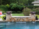 Tuscany Scabas stacked stone panels outdoor waterfall San Ramon