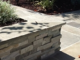 Sierra Blue Stacked Stone Ledger Panels for outdoor retaining wall with cap San Ramon