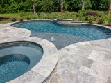 Silver Travertine Pool Deck Pavers San Jose