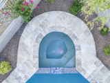 Silver Gray Travertine Pool Coping Patio and Pool Stone Pattern