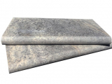 Silver travertine bullnose coping LCOPTSIL1624HUF