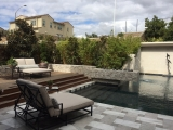 Silver Travertine Stacked Stone Ledger Panels for retaining walls Cupertino