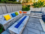 Silver Travertine Stacked Stone Veneers for outdoor seating wall tile San Jose