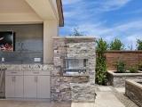 Silver Travertine Veneers San Jose for outdoor kitchen stone Mountain House