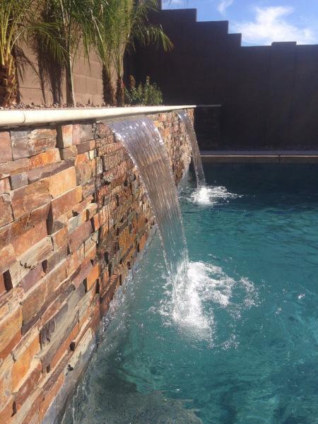 California Gold outdoor waterfall stacked stone panels San Ramon