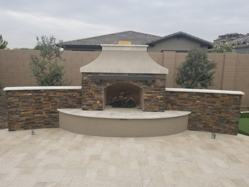 California Gold stacked stone panels for outdoor fire pit and bbq Hillsborough