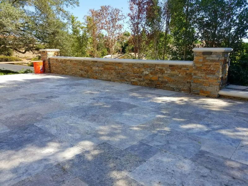 Canyon Creek Stacked Stone Ledger Panel 6x24  for outdoor seating walls Fremont