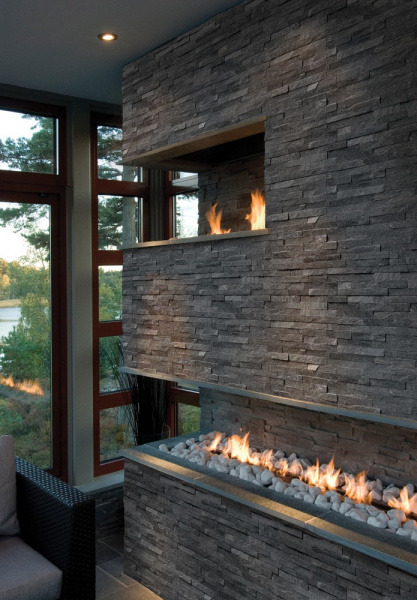 Coal Canyon Ledger for fireplace Stacked Stone Veneer  San Jose