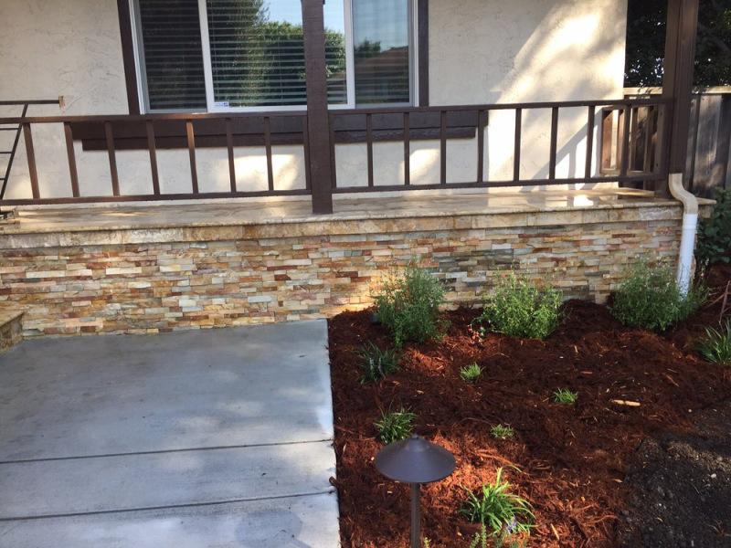 Golden White Stacked Stone Thin Veneer Panels for exterior walls San Jose