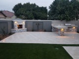 Alaska gray marble outdoor patio wall stone tile Burlingame