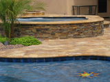 California-Gold-ledger-stone-panel-San-Ramon-around-sitting-wall
