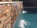 California Gold outdoor waterfall stacked stone panels San Ramon