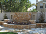 Golden White Ledger Stone Veneer Panel