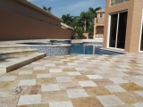 16x16 Scabos Travertine Pavers Tumbled and Ivory Travertine Tumbled Pavers