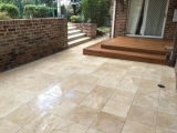 16x16  3CM Walnut Travertine Pavers outdoor stone Cupertino