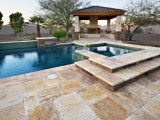 Gold Travertine Pavers French Pattern Tumbled