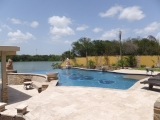 Ivory Travertine Patio Pavers Tiles and pool coping patio