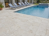 Ivory Classic Travertine Stone Pavers for backyard Los Altos Bay Area