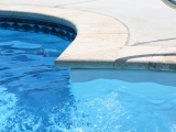 Ivory Travertine Pavers Tumbled Pattern Pool Copings