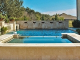 Tuscany Ivory Travertine Pool Coping and Pavers Patio El Dorado Hills