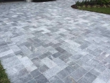 King Blue Stone marble pavers french pattern patio