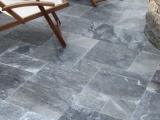 King BlueStone marble pavers tumbled french pattern