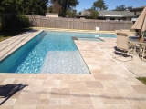 Tuscany Noce Travertine Pavers French Pattern Cupertino Bay Area