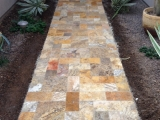 Scabos Travertine Pavers French Pattern