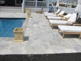 Silver Travertine Pavers French Pattern Tumbled 3 CM