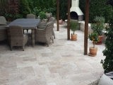 Tuscany Blend Travertine Paver Tumbled Versailles (French) Pattern