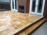 Tuscany Gold Riviera Travertine Pavers patio stone San Jose
